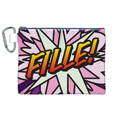 Comic Book Fille! Canvas Cosmetic Bag (XL)