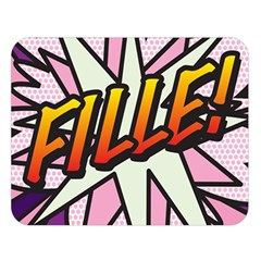 Comic Book Fille! Double Sided Flano Blanket (large)