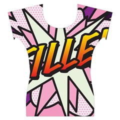 Comic Book Fille! Women s Cap Sleeve Top
