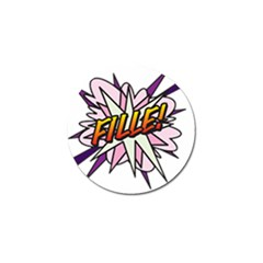 Comic Book Fille! Golf Ball Marker (4 pack)