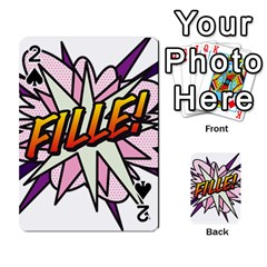 Comic Book Fille! Playing Cards 54 Designs