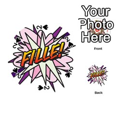 Comic Book Fille! Playing Cards 54 (Round)