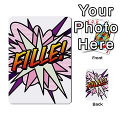 Comic Book Fille! Multi-purpose Cards (Rectangle)