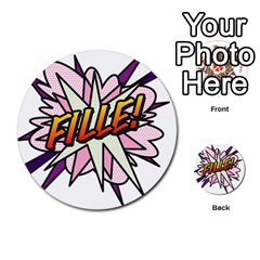 Comic Book Fille! Multi Purpose Cards (round)