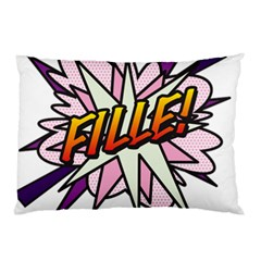 Comic Book Fille! Pillow Cases