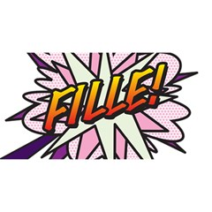 Comic Book Fille! YOU ARE INVITED 3D Greeting Card (8x4)