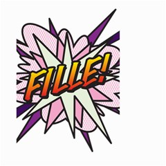 Comic Book Fille! Small Garden Flag (Two Sides)