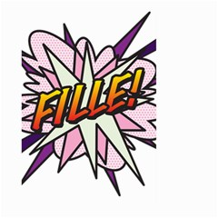 Comic Book Fille! Large Garden Flag (Two Sides)