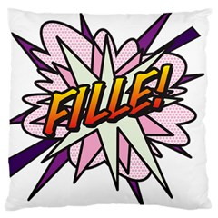 Comic Book Fille! Large Cushion Cases (One Side)