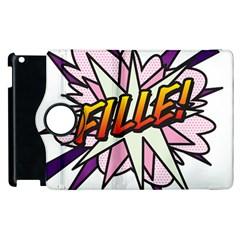 Comic Book Fille! Apple iPad 3/4 Flip 360 Case