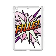 Comic Book Fille! iPad Mini 2 Enamel Coated Cases