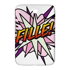 Comic Book Fille! Samsung Galaxy Note 8.0 N5100 Hardshell Case