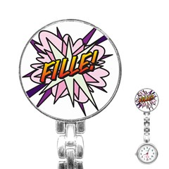 Comic Book Fille! Stainless Steel Nurses Watches
