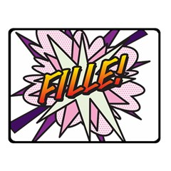 Comic Book Fille! Double Sided Fleece Blanket (Small)