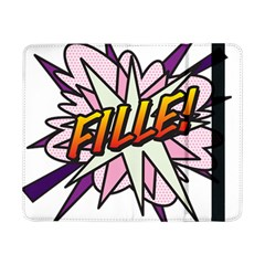 Comic Book Fille! Samsung Galaxy Tab Pro 8 4  Flip Case