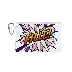 Comic Book Fille! Canvas Cosmetic Bag (S)