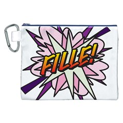Comic Book Fille! Canvas Cosmetic Bag (XXL)