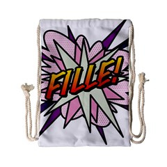 Comic Book Fille! Drawstring Bag (Small)