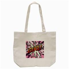 Comic Book Girl!  Tote Bag (Cream)