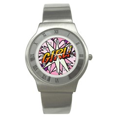 Comic Book Girl!  Stainless Steel Watches