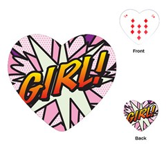 Comic Book Girl!  Playing Cards (Heart)