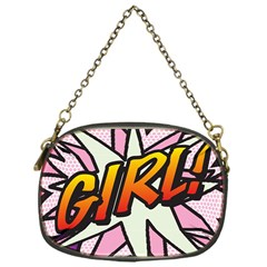 Comic Book Girl!  Chain Purses (One Side)
