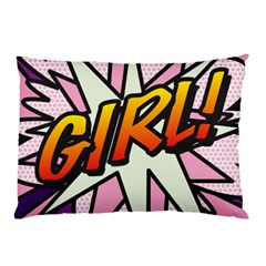 Comic Book Girl!  Pillow Cases (Two Sides)
