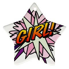 Comic Book Girl!  Ornament (Star)
