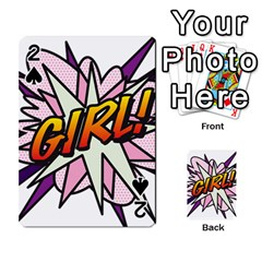 Comic Book Girl!  Playing Cards 54 Designs