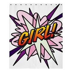 Comic Book Girl!  Shower Curtain 60  x 72  (Medium)
