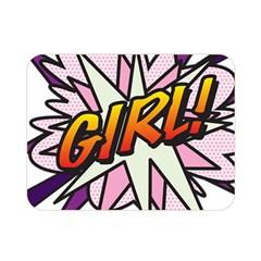 Comic Book Girl!  Double Sided Flano Blanket (Mini)