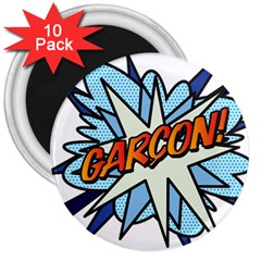 Comic Book Garcon! 3  Magnets (10 pack)