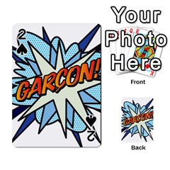 Comic Book Garcon! Playing Cards 54 Designs
