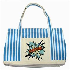 Comic Book Garcon! Striped Blue Tote Bag