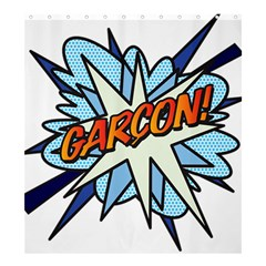 Comic Book Garcon! Shower Curtain 66  X 72  (large)