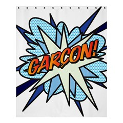 Comic Book Garcon! Shower Curtain 60  x 72  (Medium)