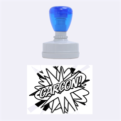 Comic Book Garcon! Rubber Oval Stamps