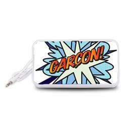 Comic Book Garcon! Portable Speaker (White)