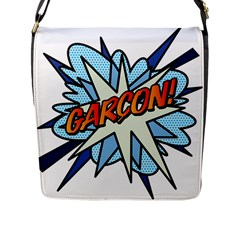Comic Book Garcon! Flap Messenger Bag (L)