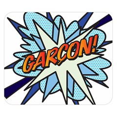 Comic Book Garcon! Double Sided Flano Blanket (Small)