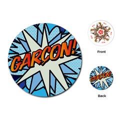 Comic Book Garcon! Playing Cards (Round)