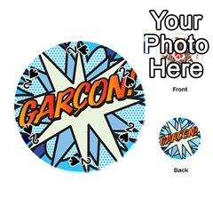 Comic Book Garcon! Playing Cards 54 (Round)