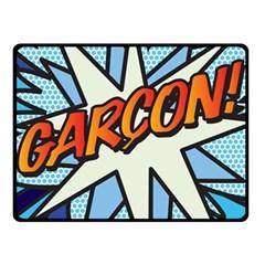 Comic Book Garcon! Fleece Blanket (Small)