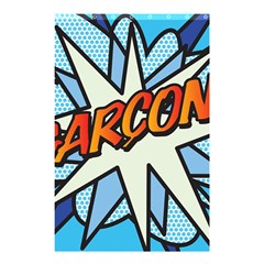 Comic Book Garcon! Shower Curtain 48  X 72  (small)