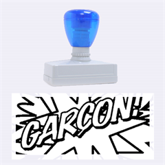 Comic Book Garcon! Rubber Stamps (large)