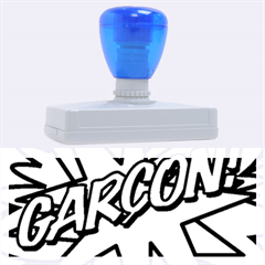 Comic Book Garcon! Rubber Address Stamps (XL)