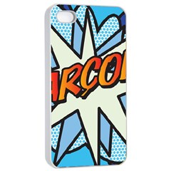 Comic Book Garcon! Apple Iphone 4/4s Seamless Case (white)