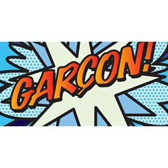 Comic Book Garcon! You Are Invited 3d Greeting Card (8x4)
