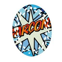 Comic Book Garcon! Ornament (Oval Filigree)