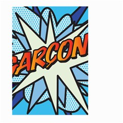 Comic Book Garcon! Large Garden Flag (Two Sides)